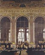 Sir William Orpen The Signing of Peace in the Hall of Mirrors,Versailles oil painting reproduction