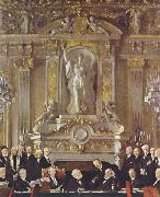 Sir William Orpen A Peace Conference at the Zuai d Orsay oil painting reproduction