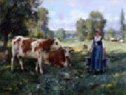 unknow artist Cow and Woman