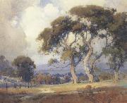 unknow artist Oaks in a California Landscape