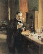 Albert Edelfelt louis pasteur in his laboratory oil painting