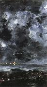 August Strindberg the city oil painting