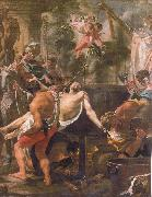 Brun, Charles Le The Martyrdom of st john the evangelist at the porta Latina oil painting on canvas