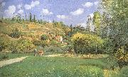 Camille Pissarro Cattle woman oil painting reproduction