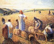 Camille Pissarro Harvest oil painting reproduction