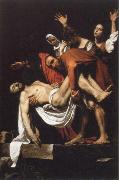 Caravaggio the entombment oil painting reproduction