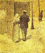 Man and Woman on the Street