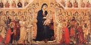 Duccio Maesta with Twenty Angels and Nineteen Saints. oil painting
