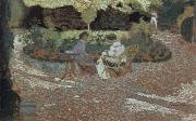 Edouard Vuillard in the garden oil painting reproduction