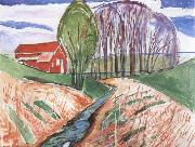 Edvard Munch Spring oil painting reproduction