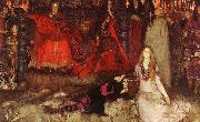 Edwin Austin Abbey The play scene in Hamlet oil painting