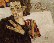 Egon Schiele sjalvportratt oil painting reproduction