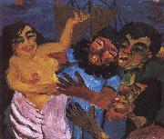Emil Nolde Egypt condemned in the Santa Maria oil painting