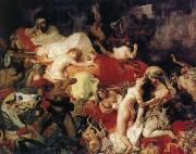 Eugene Delacroix Saar reaches death of that handkerchief Ruse oil painting reproduction