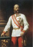 Eugene de Blaas kaiser franz josef l of austria in uniform oil painting reproduction
