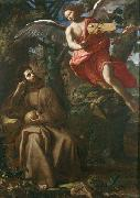 Saint Francis consoled by an Angel