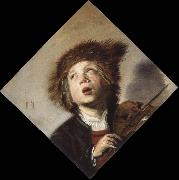 a boy with a violin
