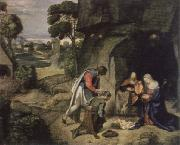 Giorgione adoration of the shepherds oil painting reproduction