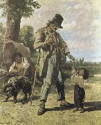 Gustave Courbet Beggar oil painting reproduction