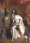 Hyacinthe Rigaud Portrait of Louis XIV oil painting artist