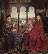 Jan Van Eyck Roland s Madonna oil painting reproduction