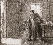 Jean Francois Millet Beggar oil painting reproduction