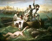 Watson and the Shark (1778) depicts the rescue of Brook Watson from a shark attack in Havana, Cuba.