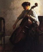Joseph Decamp The Cellist oil painting