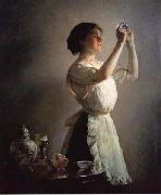 Joseph Decamp The Blue Cup oil painting