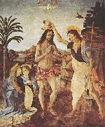 LEONARDO da Vinci The Baptism of Christ oil painting reproduction
