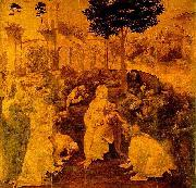 LEONARDO da Vinci The Adoration of the Magi oil painting reproduction