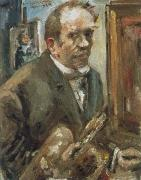 Lovis Corinth self portrait with palette oil painting reproduction