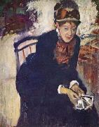 Degas, Portrait of Miss Cassatt