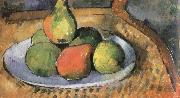 pears on a chair