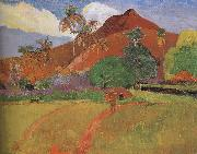 Paul Gauguin Tahitian Landscape oil painting reproduction