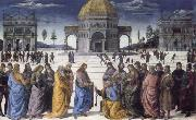 Pietro Perugino christ giving the keys to st.peter oil painting