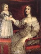Rembrandt van rijn anne of austria with her louis xiv oil painting reproduction