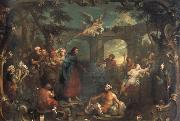William Hogarth christ at the pool of bethesda oil painting artist