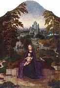 Adriaen Isenbrandt One of many versions of the Rest during the Flight to Egypt attributed to Isenbrandt. oil painting artist