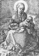 Madonna with the Swaddled Infant 1520 Engraving