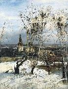Alexei Savrasov The Rooks Have Come Back was painted by Savrasov near Ipatiev Monastery in Kostroma. oil painting