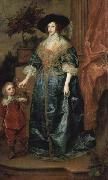 Henrietta Maria and the dwarf, Sir Jeffrey Hudson,