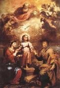 Bartolome Esteban Murillo Trinity oil painting reproduction