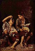Beggar Boys Eating Grapes and Melon