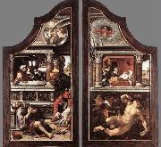 Bernaert Van Orley Triptych of Virtue of Patience oil painting reproduction