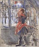 L Enfant au Tablier Rouge, a sketch