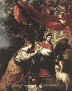 CEREZO, Mateo The Mystic Marriage of St Catherine oil painting reproduction