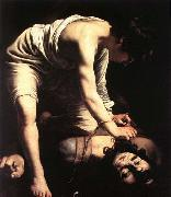 Caravaggio David oil painting reproduction