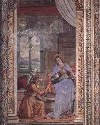 Domenico Ghirlandaio Annunciation oil painting reproduction