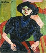 Ernst Ludwig Kirchner Portrait of a Woman oil painting reproduction